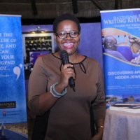 Nyana Kakoma of Sooo Many Stories giving her testimonial